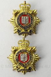Britse Royal Logistic Corps kraag insigne set - 3 x 3 cm - origineel