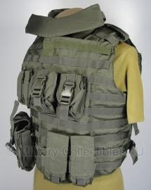 Modulair gevechtsvest set - Molle - INCLUSIEF tassen - groen