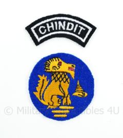 WO2 Britse Chindit emblemen set - diameter 5 cm