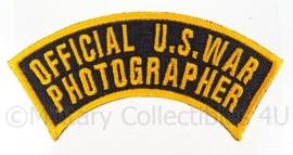 WO2 US Official War Photographer embleem - 10,5 x 3,2 cm