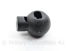 Defensie Tanka Koordstopper zwart  - 2,5 x 2 cm - origineel