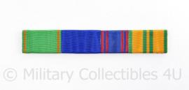Nederlandse medaille baton voor 4 medailles - Vrijwilligersmedaille Orde en Vrede / vaardigheidsmedaille NOC NSF /  Kruis van Verdienste /  Vierdaagse Kruis -  6,5  x 1,5 cm