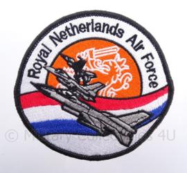 KLu Koninklijke Luchtmacht embleem RNLAF Royal Netherlands Air Force - met klittenband - diameter 10 cm