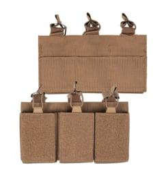 Magazijntas Triple Magazin pouch koppeltas met velcro - voor 3 M4, M16 of AR15 magazijnen - COYOTE