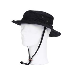Boonie hat / Bush hat Ripstop - BLACK - MET memory Wire