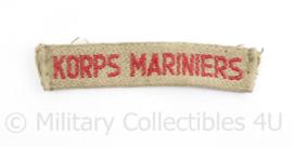 Korps Mariniers TRIS straatnaam Troepenmacht in Suriname - 9 x 2 cm -  origineel