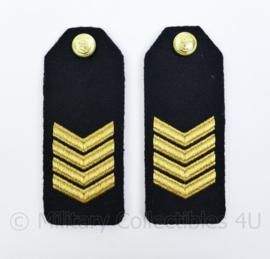 KM Koninklijke Marine epauletten schouderstukken set - Sergeant-Majoor - origineel