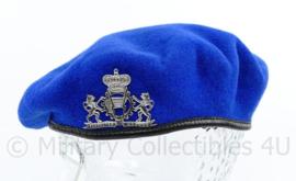 ABL Preta 1990 Belgische leger baret blauw met insigne  - maat 59 - origineel