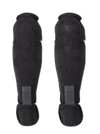 Franse Politie en ME knie- en beenbeschermers - zwart - origineel