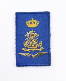 Defensie eenheid mouw embleem - met klittenband - 8  x 5 cm - origineel