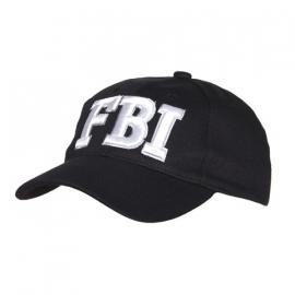 Baseball cap FBI - zwart
