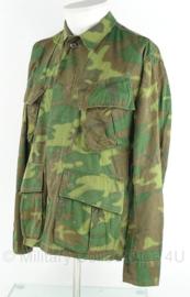 US Army Vietnam oorlog Jungle Fatique uniform jasje - 3rd model ERDL POPLIN camo - zeldzaam - maat L - origineel