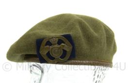 MVO jaren 50 baret met insigne Aan en Afvoertroepen - zeldzame vroege set - maat 56 - origineel