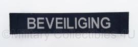 KLu Luchtmacht Beveiliging naamlint - donkerblauw - met klittenband - afmeting 3 x 15 cm - origineel