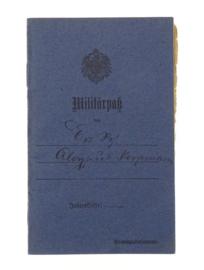 Duits WO1 Militärpaß soldatenpaspoort - gestempeld - TOPSTAAT - origineel