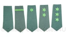 Vroege Bundesgrenzschutz epauletten set groen (van ieder 1 enkele)- origineel