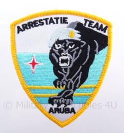 Arrestatieteam Aruba embleem - met klittenband - afmeting 8 x 9 cm
