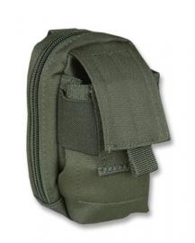 Gevoerde koppel tas voor mobiel etc. - Molle draagsysteem - 13x7x5cm - Groen