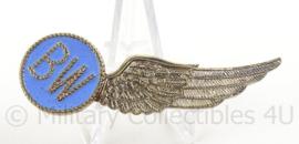 KLu Luchtmacht halve Wing BW Boord Werktuigkundige - afmeting 2 x 6,5 cm - origineel