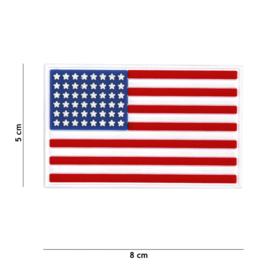 Uniform landsvlag USA Amerika Embleem 3D PVC PVC  - met klittenband  - 8 x 5 cm