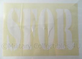 Stabilization Force Voertuig Sticker SFOR - wit - 49 x 22,5 cm. - origineel