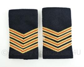 Nederlandse Brandweer zwart wollig epauletten - rang hoofdbrandwacht - paar - origineel
