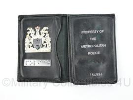 Britse Politie brevet op lederen houder Metropolitan Police  - origineel