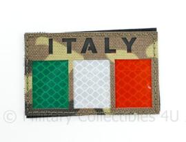 Italiaanse leger infrarood patch ITALY  - multicam - met klittenband - 5 x 9 cm