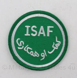 KL ISAF armembleem met klittenband (groen) - origineel