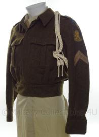 Koninklijk Marechaussee  uniform battledress met insignes - Jaren '50 - maat 48 - origineel