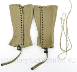 Wo2 US Army originele gaiters Leggings M1938 beenkappen maat 3R - PAAR - origineel