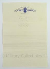 WO2 US Camp Forrest Tennesse briefpapier - afmeting 26,5 x 18 cm - origineel