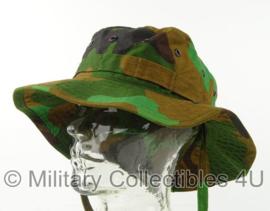 KL Nederlandse leger jungle camo bush hat met gefixeerde rand - ongebruikt - maat 59 - origineel