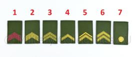 KL Nederlandse leger rangembleem met klittenband GROEN - manschappen - 5 x 8 cm