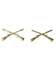 US Branche Insignia Officer infantry - 1 PAAR