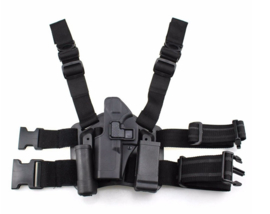 Drop leg Beenholster Glock 17 LINKSHANDIG - black