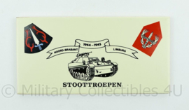 Stoottroepen Noord Brabant Limburg 1944-1945 porselein herinneringswandbord - afmeting 20 x 10 x 0,4 cm - origineel