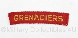 MVO straatnaam enkel Grenadiers - model nov 1946 tot 30 jan 1951 - 10 x 2,5 cm origineel