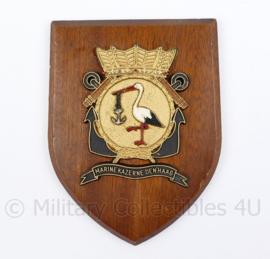 Wandbord Koninklijke Marine  - Marine Kazerne Den Haag - 18,5 x 14 x 1,5 cm - origineel