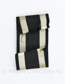 Wo1 Wo2 Duits Medaille lint van EK2 Ijzeren kruis 2e klasse 1914  - 7 x 2,5 cm - origineel