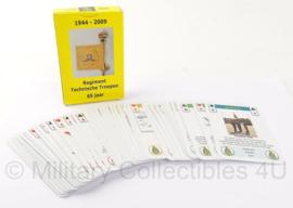 Origineel KL kaartspel regiment technische troepen 65 jaar 1944-2009 - Origineel