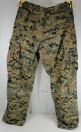 """USMC Marpat camo Uniform broek - topstaat - met naamlint """"Ulloa"""" - maat 32 xshort - origineel"""