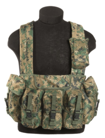 Chest rig 6 pocket - Digital woodland Marpat USMC