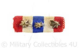 Nederlandse medaille baton Ere teken voor Orde en Vrede met 3 gespen - 4 x 1 cm - origineel