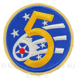 WO2 US 5th USAAF patch cut edge - doorsnede 9 cm - replica