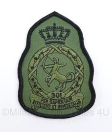 Klu Luchtmacht embleem 301 Squadron met klittenband - 11,5 x 8 cm - origineel
