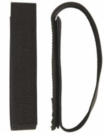 Broek elastiek - blousing band 3 cm breed met klittenband  ZWART - 1 paar