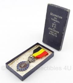 """Belgische """"ereteken van de arbeid 2e klasse"""" zilver medaille met doosje  - Origineel"""