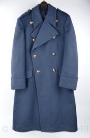 KLu Luchtmacht dikke wollen mantel met dubbele rij gouden knopen 1967 - Adjudant Onderofficier - maat 46 ¼ -  origineel