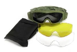 Tactical Army Goggle  - nieuw - met 3 soorten glazen - GREEN